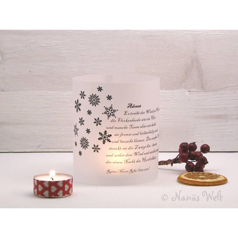 Windlicht Weihnachten/ Advent Adventsgedicht Rilke Bild 1