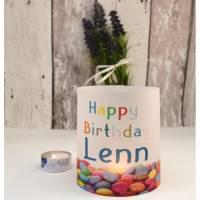 Windlicht personalisiert Geburtstag Happy Birthday Bild 1