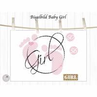 Bügelbild Set Baby Girl, mehrfarbig inklusive Label Bild 2