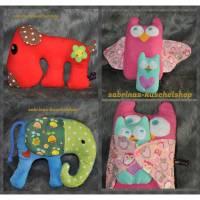 ✿✿ Kuscheltier, verschiedene Motive und Grössen, freie Farbwahl, Elefant, Hund, Eule mit Baby ✿✿ Bild 1