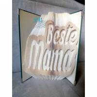 """Schriftzug """"Beste Mama"""" - Gefaltetes Buch  Bild 1"""
