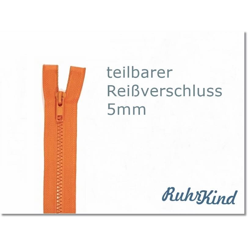 85cm - teilbarer Reißverschluss - Orange Bild 1