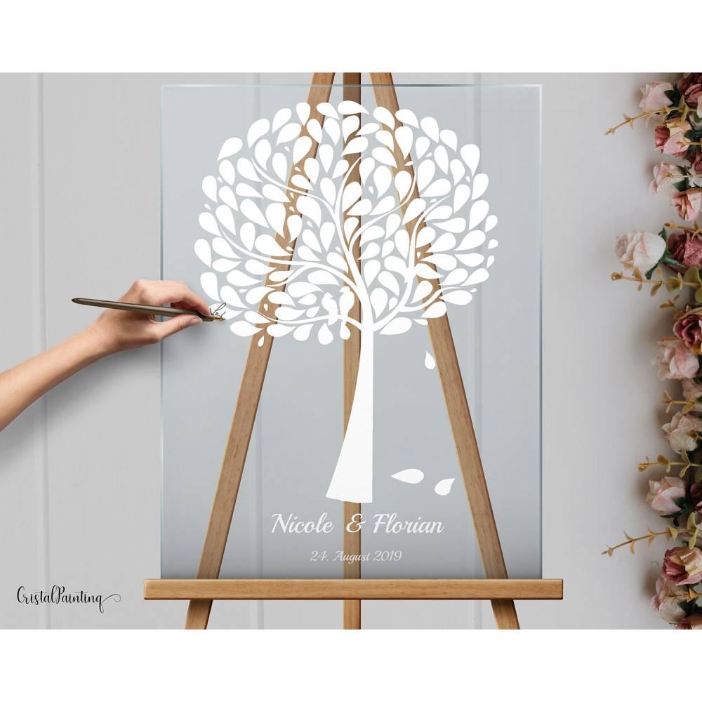 Acrylglasschild Hochzeitsgeschenk, Gästebuch, Willkommensschilder Hochzeitsbaum aus Acrylglas Bild 1