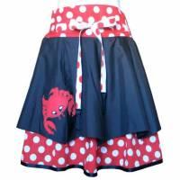 Regenschirmrock gepunktet   UPCYCLING UNIKAT  passend für Größe 146 - 176  bzw. Größen 34 - 38 Bild 1