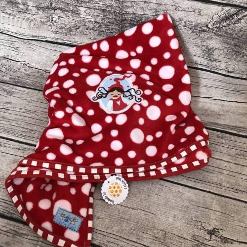 Babydecke Kuscheldecke *Milli* Rot-weiß-gepunktet