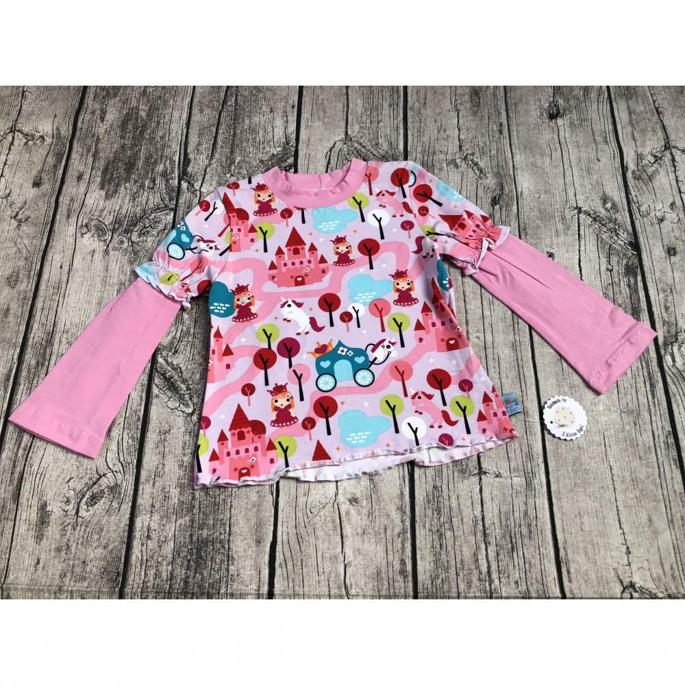 Langarmshirt / Shirt gr.86/92 Rosa ~Prinzessin~  Bild 1