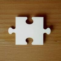 Puzzleteil Platzkarte aus Holz blanko Bild 1