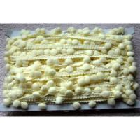Pompomborte pastellgelb 20mm Bild 1