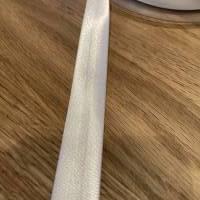 Schrägband - Satin - 18 mm - weiß Bild 1