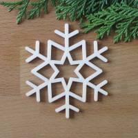 Schneeflocke Island aus Holz