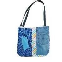 Badetasche, Jeanstasche, Shopper, Tragetasche, Schultertasche, Unikat Bild 1