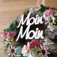 Moin Moin Holz-Schriftzug Bild 1