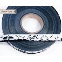 Sylt Skyline Webband schwarz/weiß Bild 1