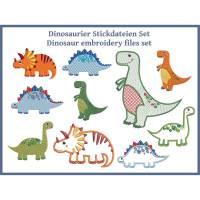 Dinosaurier Stickdateien Set 10x10 und 13x18 Bild 1