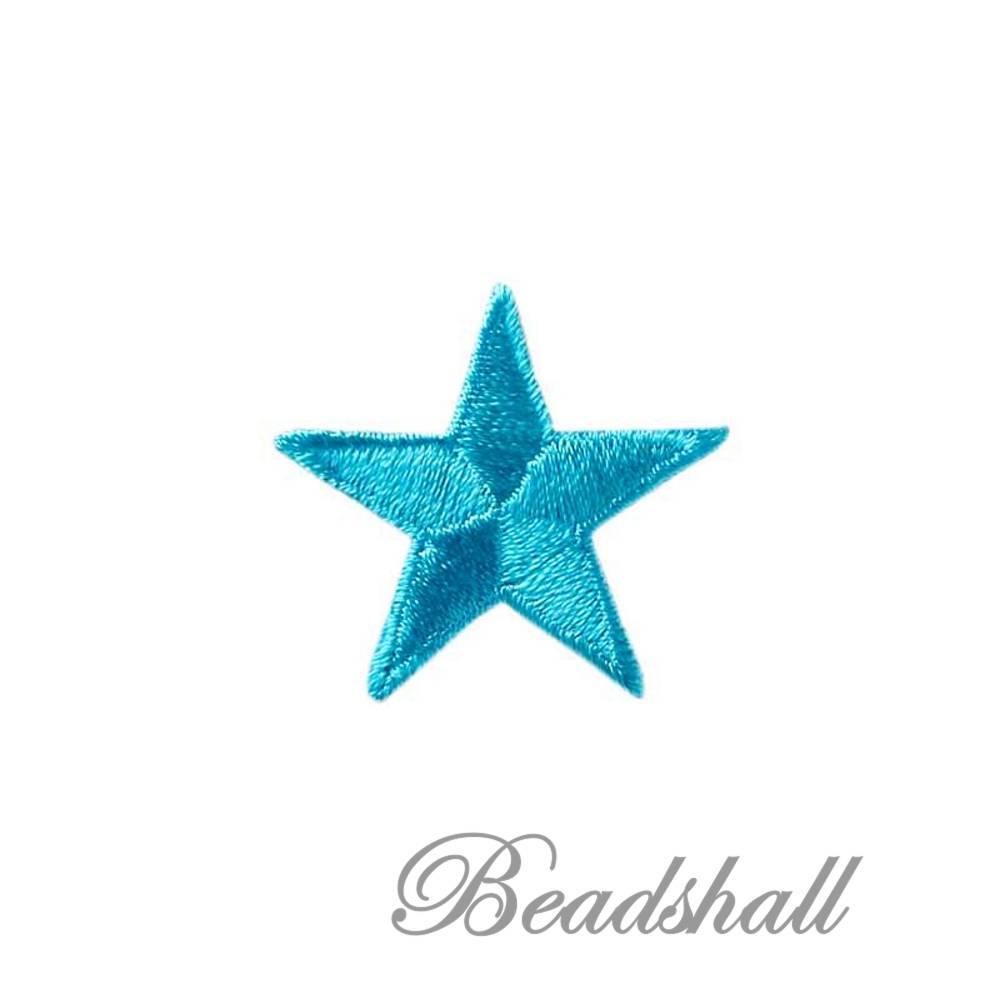 Bügelbild Stern Farbe Türkis Applikationen Aufbügelbild Bild 1