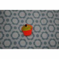 Knopf Cupcake rot/grün Bild 1
