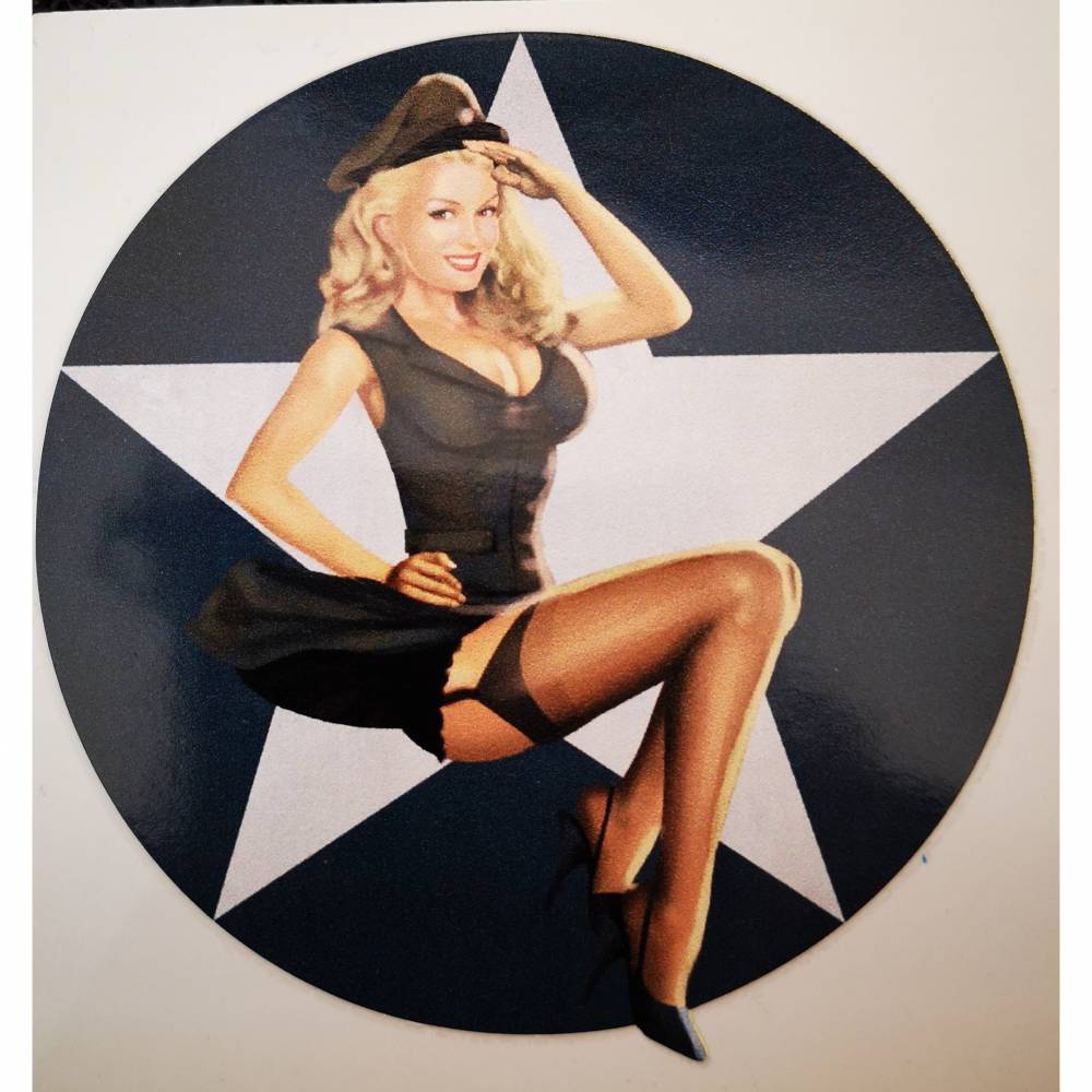 Pin up Girl Army-Star (PU119) Bild 1