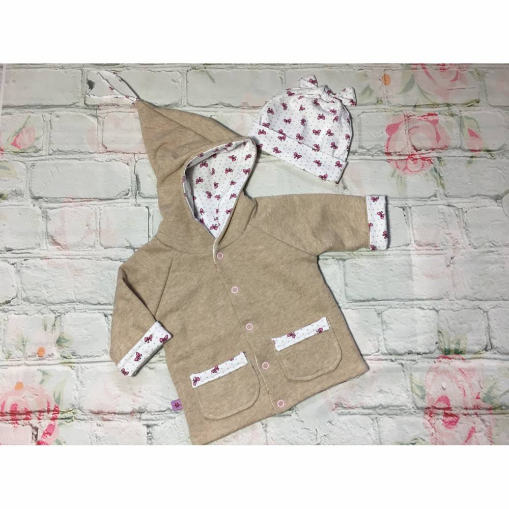 Babyjacke / Wendejacke mit Mütze, Gr. 62 - 68 Bild 1