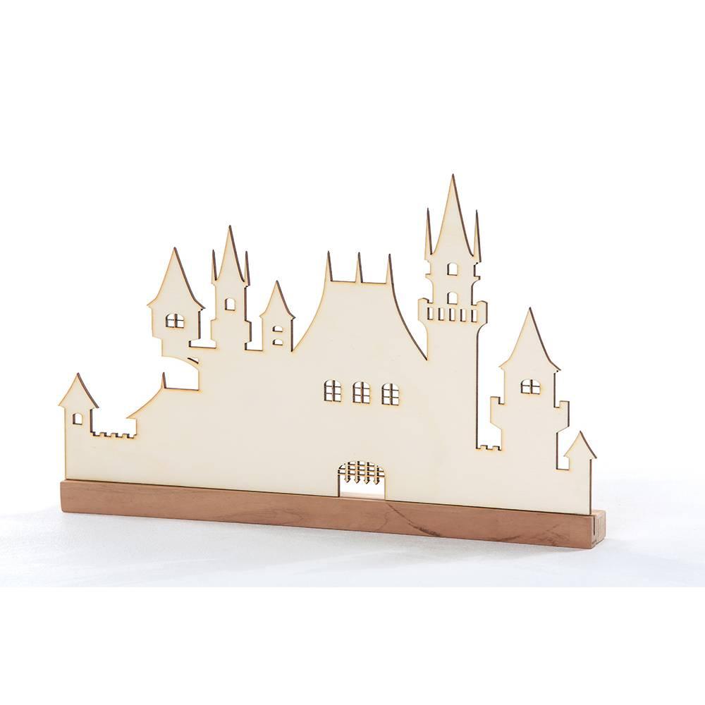 Personalisiertes Holzschloss, ca 45cm breit und 24 cm hoch (ohne Standhalterung) Bild 1
