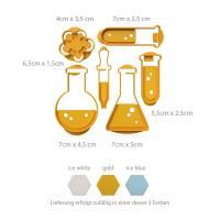6er Keksausstecher Set Chemie Chemistry Ausstecher Labor Ausstechformen ideal als Geschenk  Bild 3