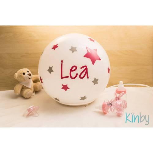 Lampe mit Namen: Pink und Eisgrau
