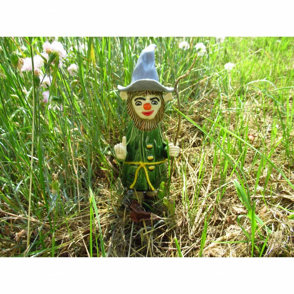 Waldgeist Skulptur Keramik Märchenfigur Bild 1