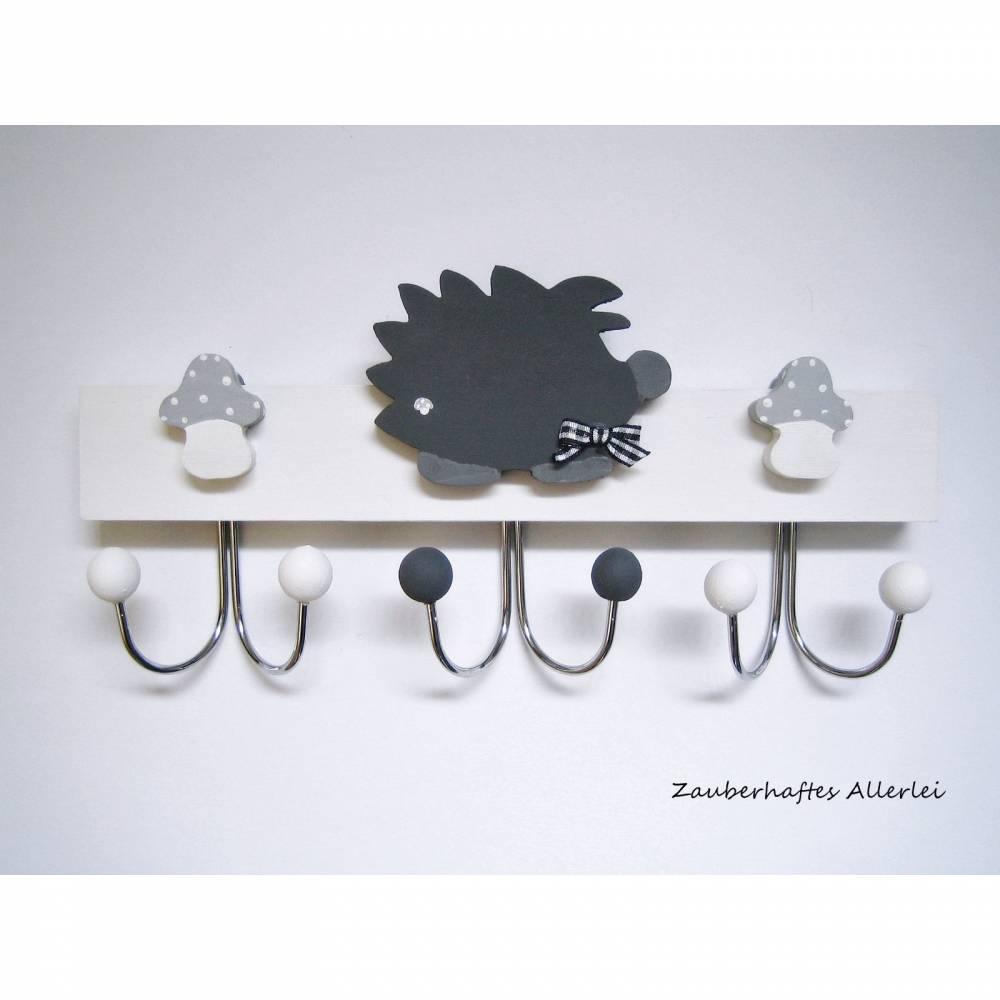 Kindergarderobe Garderobe Igel grau  Bild 1