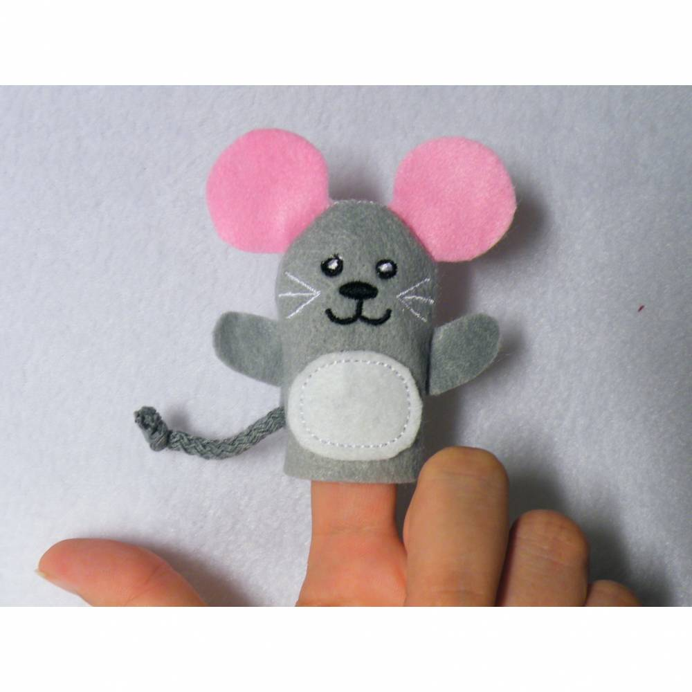 Fingerpuppe Maus Bild 1