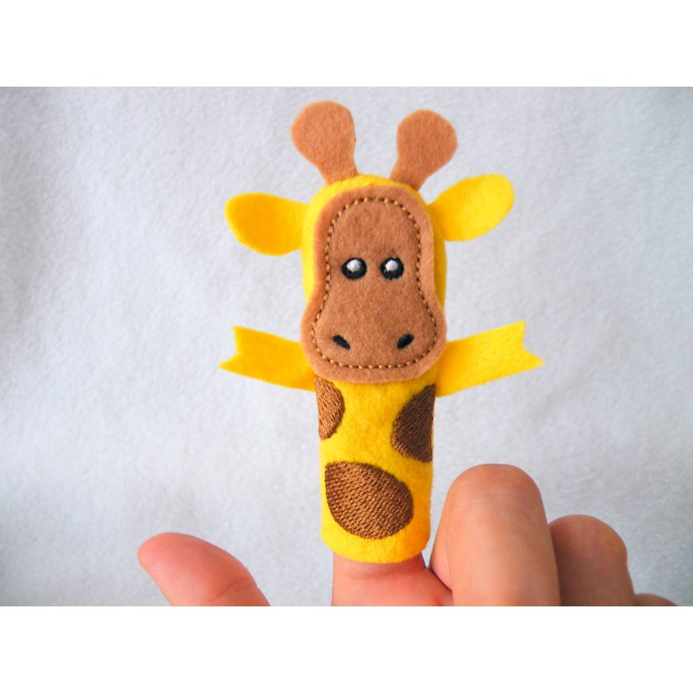 Fingerpuppe Giraffe Bild 1