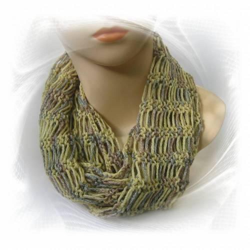 Schlauchschal gestrickt, schmaler Schal Geschenk