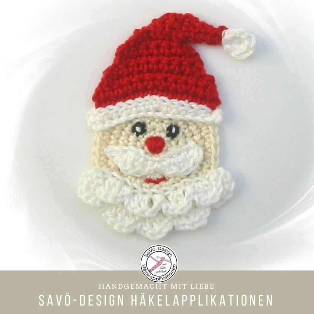Weihnachtsmann Nikolaus Aufnäher Applikation Bild 1