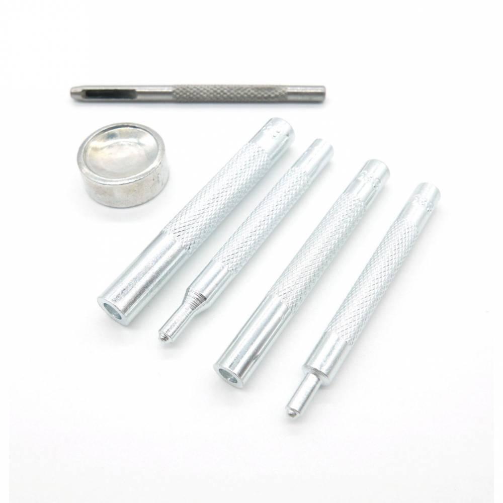 Werkzeug zum Anbringen von Metall-Druckknöpfen, 6-teiliges Set Bild 1