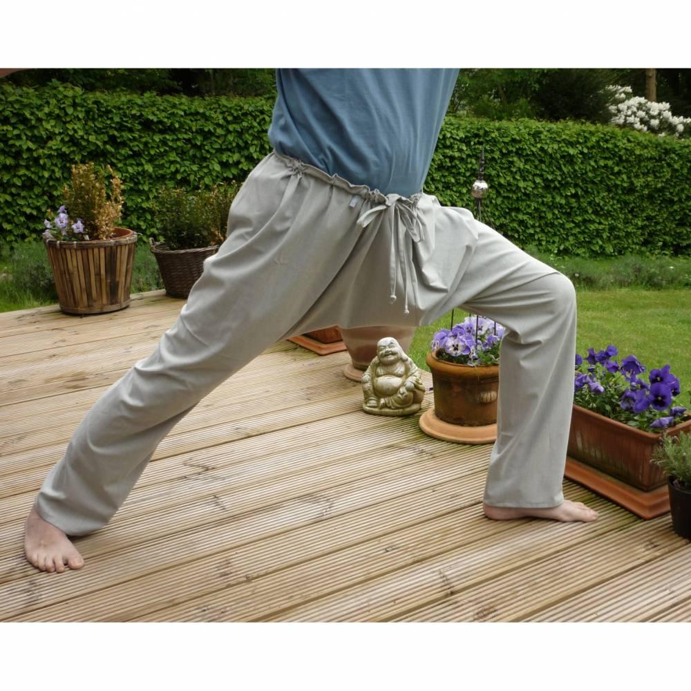"""Yogahose """"graublau"""", Freizeithose, Sporthose Bild 1"""