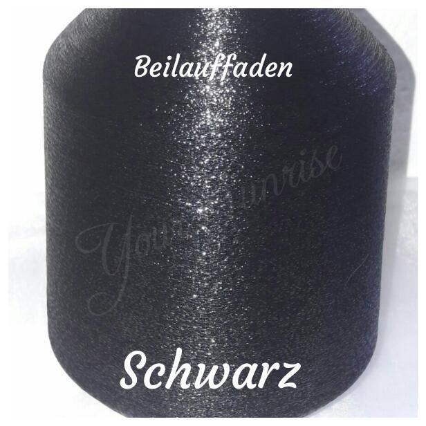 Beilaufgarn Lurex schwarz                          62 Pr. Polyester / 38 Pr. Polyamid  Artikel-Nr.: Blf. schwarz   Bild 1