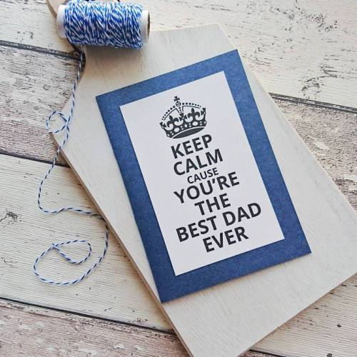 """Grußkarte, Glückwunschkarte, Vatertagskarte """"Keep Calm"""" aus der Manufaktur KarLa"""
