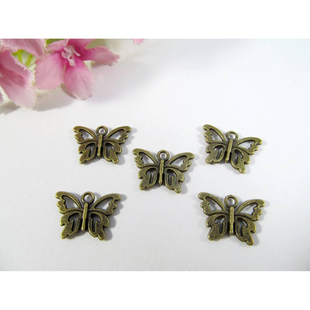 Schmetterling Anhänger / Charm, Farbe bronze Bild 1