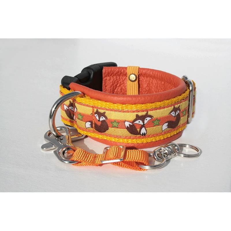 Clickerarmband »Fuchs« mit echtem Leder unterlegt + abnehmbaren Verbindungsband aus der Halsbandmanufaktur von dogs & paw  Bild 1