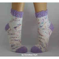Socken Wollsocken Damensocken handgestrickt Größe 38/39 Bild 1