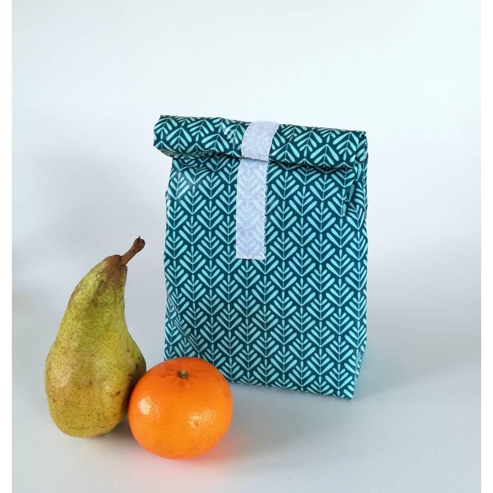 Lunchbag mit Lebensmittel geeignetem Innenfutter, Handmade Bild 1