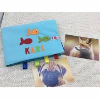 Baby Fotobuch Stoff mit Name, personalisierte Album aus Baumwolle, Baby das erste Foto-Album Bild 1