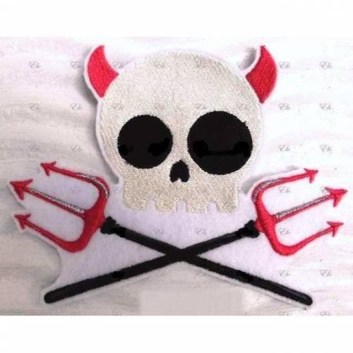 Applikation gestickt Skull Devil Aufnäher