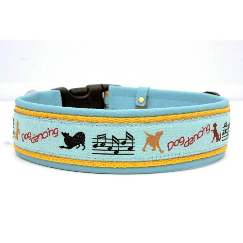 Hundehalsband »Dogdancing« mit echtem Leder unterlegt aus der Halsbandmanufaktur von dogs & paw Bild 1