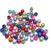 75 Miracle Beads, 6 mm, Acryl, Farbmix