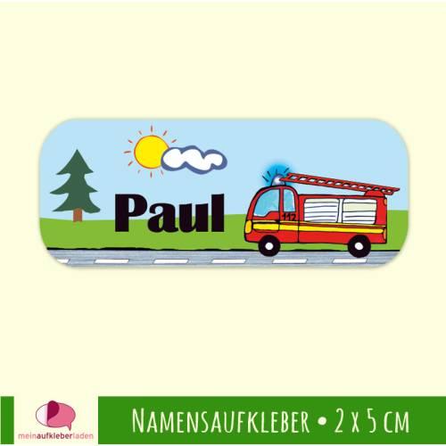 52 Namensaufkleber | Feuerwehr - 2 x 5 cm