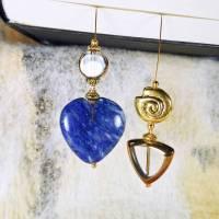 Lesezeichen blaues Herz und goldene Schnecke Bild 1