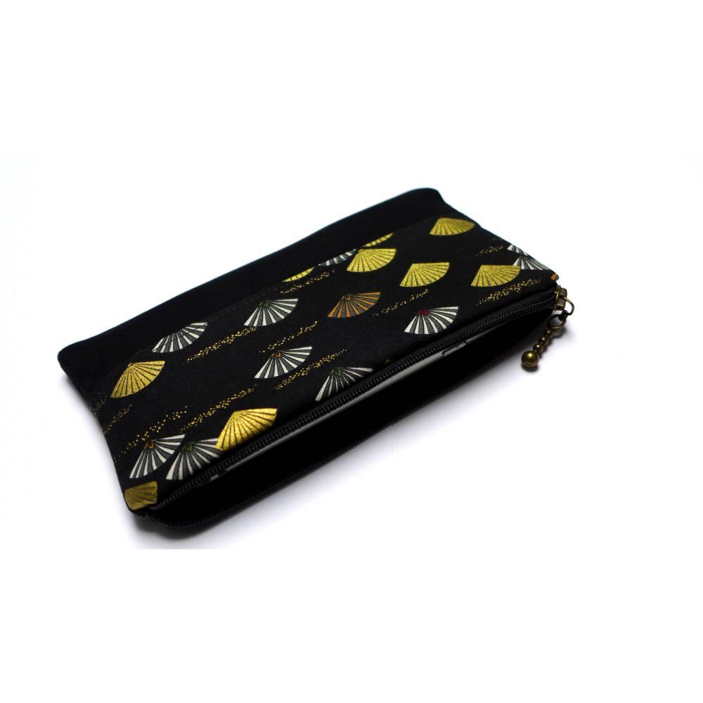 Handytasche Reißverschluss schwarz gold Wunschmaß  Bild 1