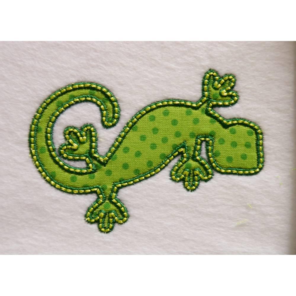 Applikation Aufnäher Gecko Bild 1