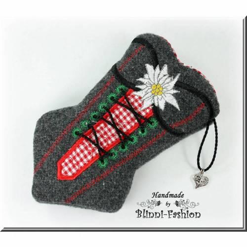 Taschentüchertasche - KORSETT - für Taschentücher oder ein kleines Handy, Tatüta, Trachten, aus Wollstoff, Farbwahl, Oktoberfest
