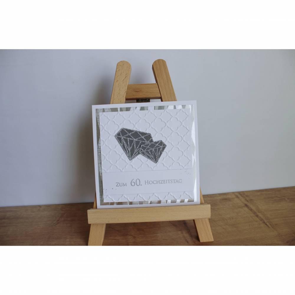 """Grußkarte, Glückwunschkarte """"Diamantene Hochzeit"""" aus der Manufaktur KarLa Bild 1"""