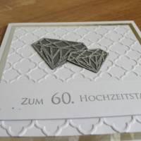 """Grußkarte, Glückwunschkarte """"Diamantene Hochzeit"""" aus der Manufaktur KarLa Bild 2"""